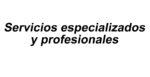 Servicios especializados y profesionales